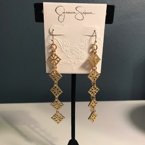 Jessica Simpson gold earrings